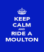 KEEP CALM AND RIDE A MOULTON - Personalised Poster A4 size