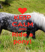 KEEP CALM AND Ride a pony! - Personalised Poster A4 size