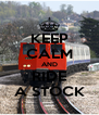 KEEP CALM AND RIDE A STOCK - Personalised Poster A4 size
