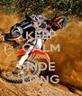KEEP CALM AND RIDE LONG - Personalised Poster A4 size