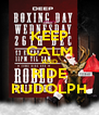 KEEP CALM AND RIDE RUDOLPH - Personalised Poster A4 size