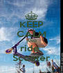 KEEP CALM AND ride  Scooter - Personalised Poster A4 size