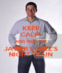 KEEP CALM AND RIDE THE JAVIER LOPEZ'S NIGHT TRAIN - Personalised Poster A4 size