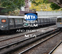 KEEP  CALM AND RIDE THE MTA  - Personalised Poster A4 size