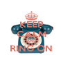 KEEP CALM AND RING ON  - Personalised Poster A4 size