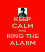 KEEP CALM AND RING THE ALARM - Personalised Poster A4 size