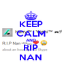 KEEP CALM AND RIP NAN - Personalised Poster A4 size