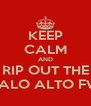 KEEP CALM AND RIP OUT THE PALO ALTO FW - Personalised Poster A4 size