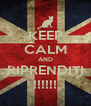KEEP CALM AND RIPRENDITI !!!!!! - Personalised Poster A4 size