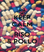 KEEP CALM AND RISO & POLLO - Personalised Poster A4 size