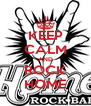 KEEP CALM AND ROCK HOME - Personalised Poster A4 size