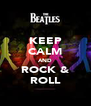 KEEP CALM AND ROCK & ROLL - Personalised Poster A4 size