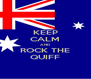 KEEP CALM AND ROCK THE QUIFF - Personalised Poster A4 size