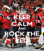 KEEP CALM AND ROCK THE RED - Personalised Poster A4 size
