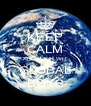 KEEP CALM AND ROCK WIT GLOBAL BOYS - Personalised Poster A4 size