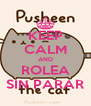 KEEP CALM AND ROLEA SIN PARAR - Personalised Poster A4 size