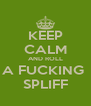 KEEP CALM AND ROLL A FUCKING  SPLIFF - Personalised Poster A4 size