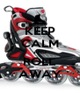 KEEP CALM AND ROLL AWAY - Personalised Poster A4 size