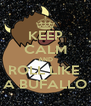 KEEP CALM AND ROLL LIKE  A BUFALLO - Personalised Poster A4 size