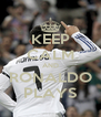 KEEP CALM AND RONALDO PLAYS - Personalised Poster A4 size