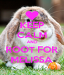 KEEP CALM AND ROOT FOR MELISSA - Personalised Poster A4 size