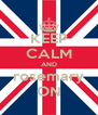 KEEP CALM AND rosemary ON - Personalised Poster A4 size
