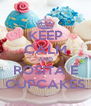 KEEP CALM AND ROSITA É CUPCAKES - Personalised Poster A4 size