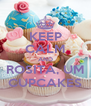 KEEP CALM AND ROSITA, UM CUPCAKES - Personalised Poster A4 size