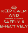 KEEP CALM AND ROTATE OPIOIDS SAFELY & EFFECTIVELY - Personalised Poster A4 size