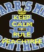 KEEP CALM AND RULE PEACHTREE - Personalised Poster A4 size