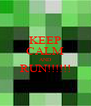 KEEP CALM AND RUN!!!!!!  - Personalised Poster A4 size