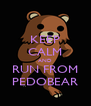 KEEP CALM AND RUN FROM PEDOBEAR - Personalised Poster A4 size