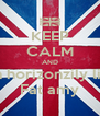 KEEP CALM AND Run horizonzily like  Fat amy - Personalised Poster A4 size