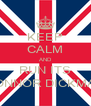 KEEP CALM AND RUN ITS CONNOR DICKMAN - Personalised Poster A4 size