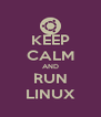 KEEP CALM AND RUN LINUX - Personalised Poster A4 size