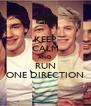 KEEP CALM AND RUN ONE DIRECTION - Personalised Poster A4 size