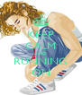 KEEP CALM AND RUNNING ON - Personalised Poster A4 size