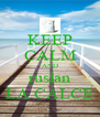 KEEP CALM AND ruslan LA CALCE - Personalised Poster A4 size