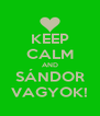 KEEP CALM AND SÁNDOR VAGYOK! - Personalised Poster A4 size
