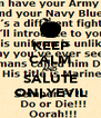 KEEP CALM AND SALUTE ONLYEVIL - Personalised Poster A4 size