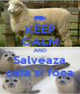 KEEP CALM AND Salveaza oaia si foca - Personalised Poster A4 size