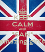 KEEP CALM AND °SAN° amazing girl's - Personalised Poster A4 size