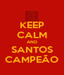 KEEP CALM AND SANTOS CAMPEÃO - Personalised Poster A4 size