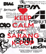KEEP CALM AND SARANG K-POP - Personalised Poster A4 size