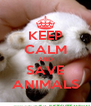 KEEP CALM AND SAVE ANIMALS - Personalised Poster A4 size