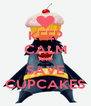 KEEP CALM AND SAVE CUPCAKES - Personalised Poster A4 size