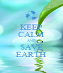 KEEP CALM AND SAVE EARTH - Personalised Poster A4 size