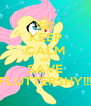 KEEP CALM AND SAVE FLUTTERSHY!!! - Personalised Poster A4 size