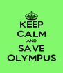 KEEP CALM AND SAVE OLYMPUS - Personalised Poster A4 size
