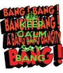 KEEP CALM AND SAY BANG  - Personalised Poster A4 size